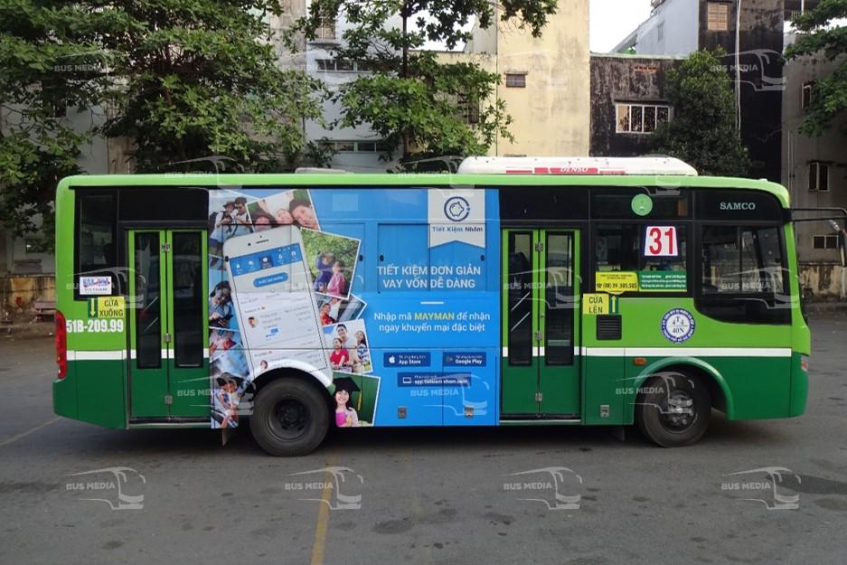 Ứng dụng tiết kiệm nhóm quảng cáo trên xe buýt tại Hồ Chí Minh