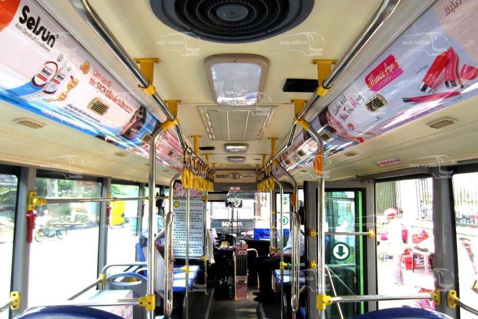 các vị trí quảng cáo trên xe buýt