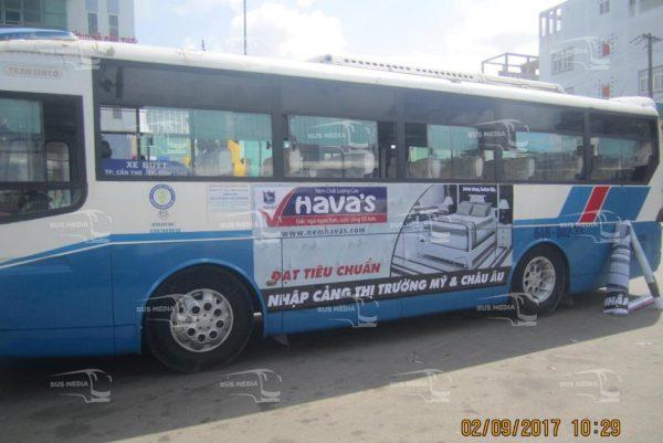 quảng cáo xe buýt tại vĩnh long