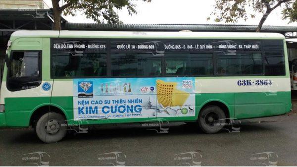 quảng cáo xe buýt tại tiền giang