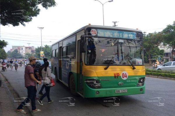 quảng cáo xe buýt tại vĩnh phúc